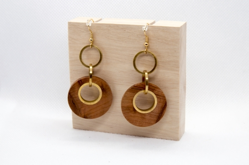 Earrings Arbor Vitae inlay golden OUTLET
